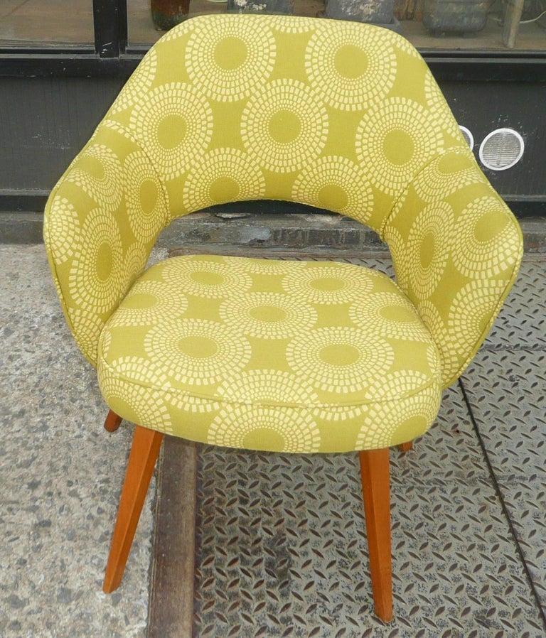 Early Eero Saarinen Knoll Executive Armchair Wood Legs at ...