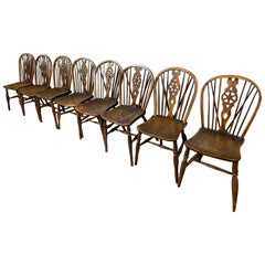 Early Eight 19th Century Windsor Wheel Back Chairs
