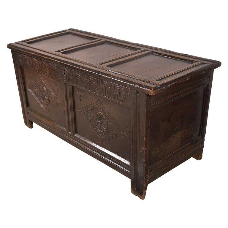 Early English Oak Chest For Sale