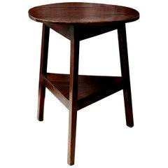 Early English Oak Cricket Table