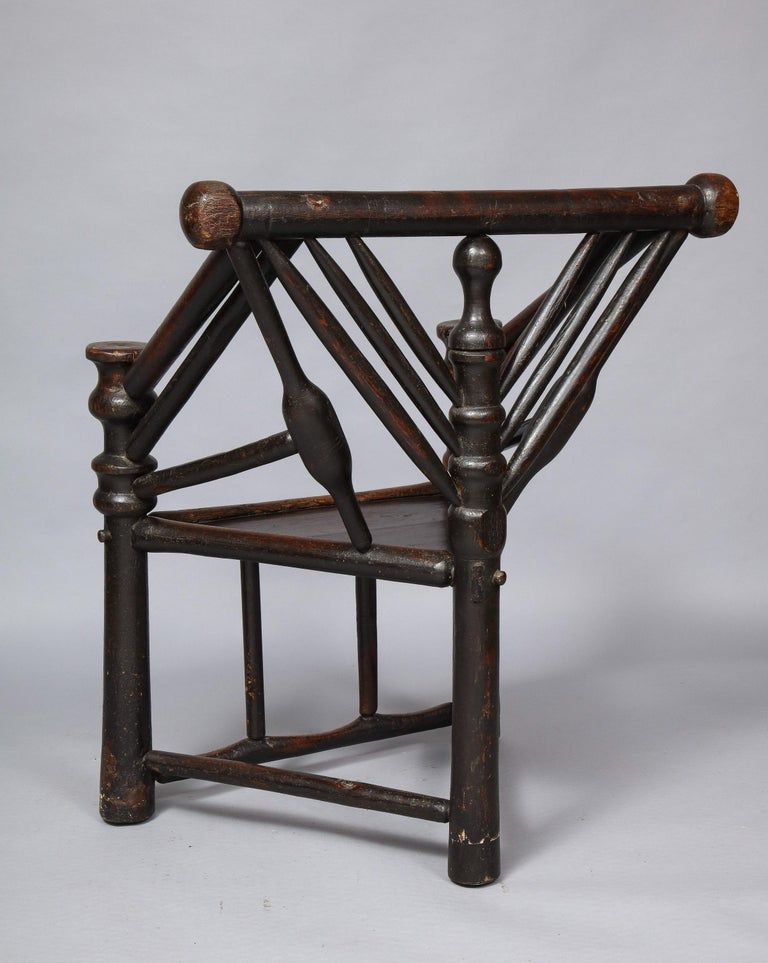 Early English or Scottish Turner's Chair  For Sale 6