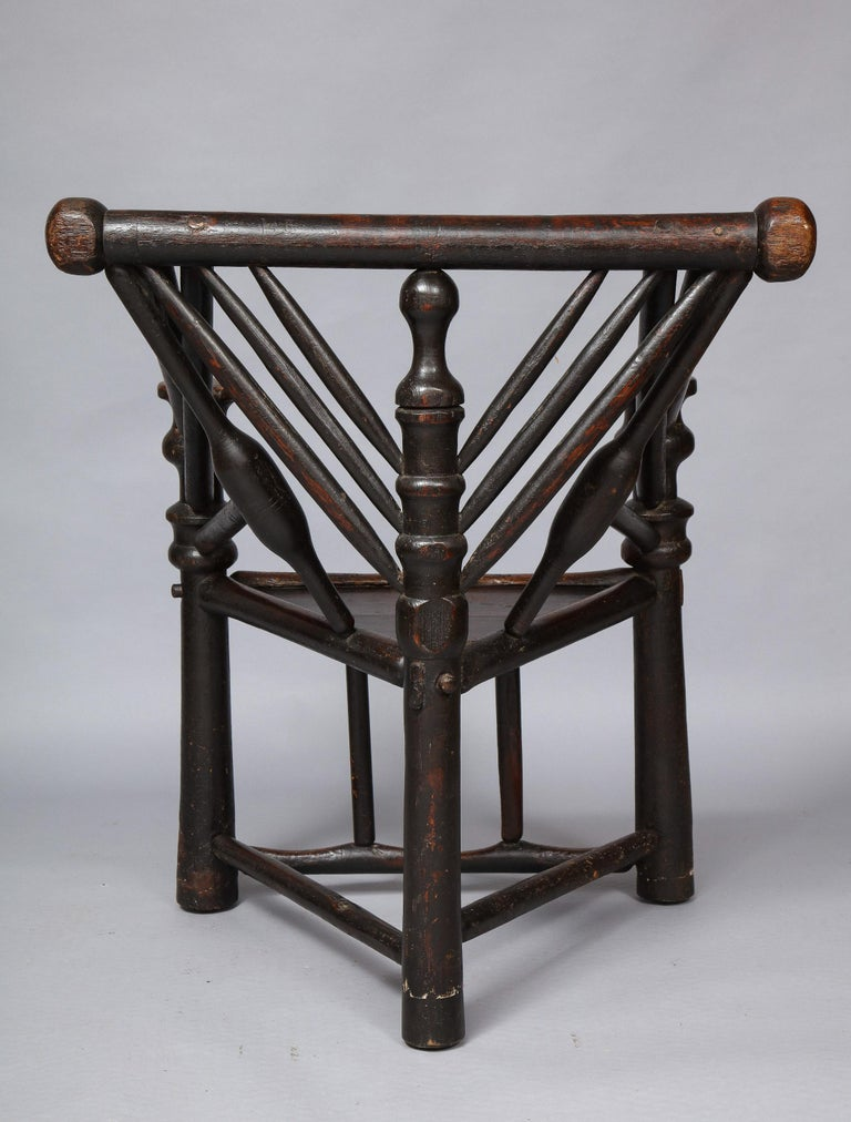 Early English or Scottish Turner's Chair  For Sale 7