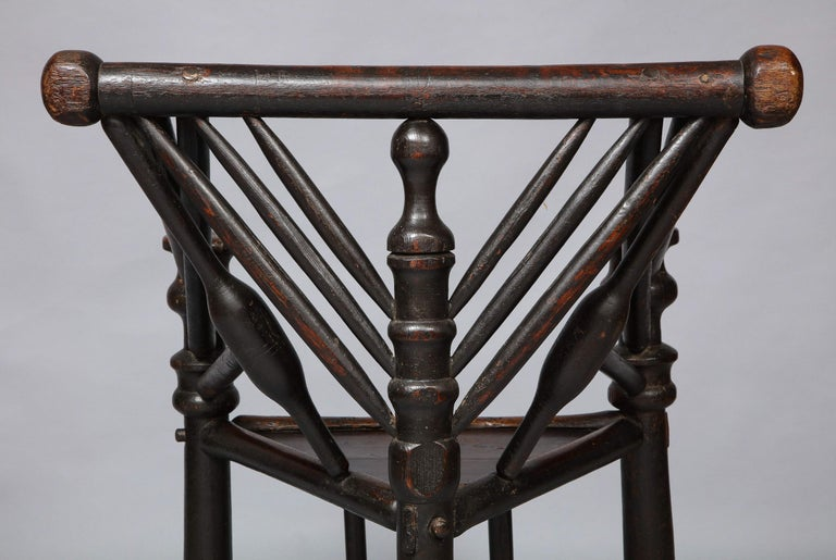 Early English or Scottish Turner's Chair  For Sale 8