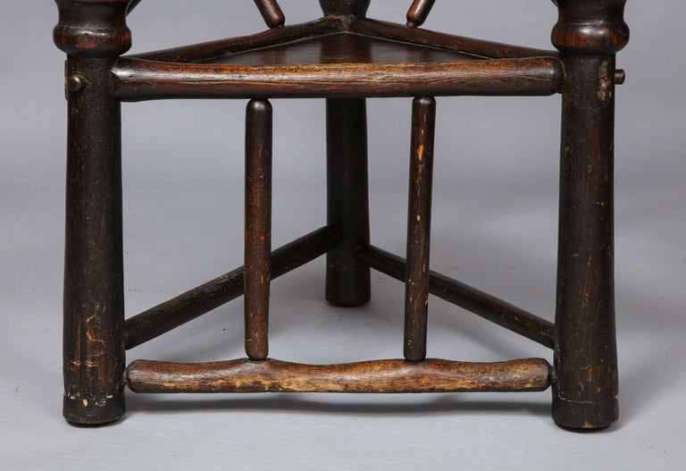 Elizabethan Early English or Scottish Turner's Chair  For Sale