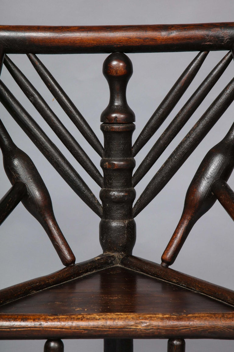 18th Century and Earlier Early English or Scottish Turner's Chair  For Sale
