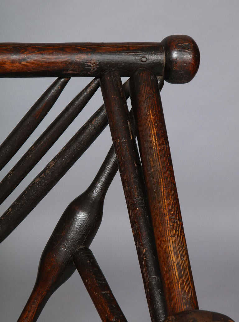 Ash Early English or Scottish Turner's Chair  For Sale
