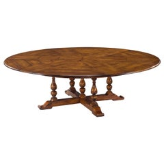 Early English Style Round Extension Dining Table