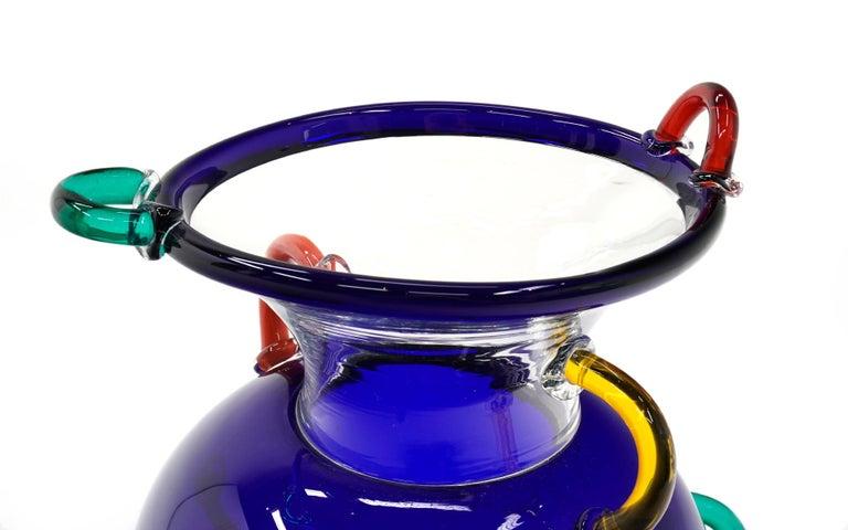 Italian Early Ettore Sottsass Mizar Vase for Memphis Milano, Italy, 1982, Blown Glass For Sale