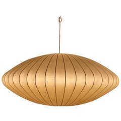 Early Example of a George Nelson Bubble Lamp Chandelier, 1950s
