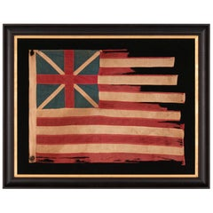 "Early Example of the ""Grand Union"" American Flag, the First Flag of America"
