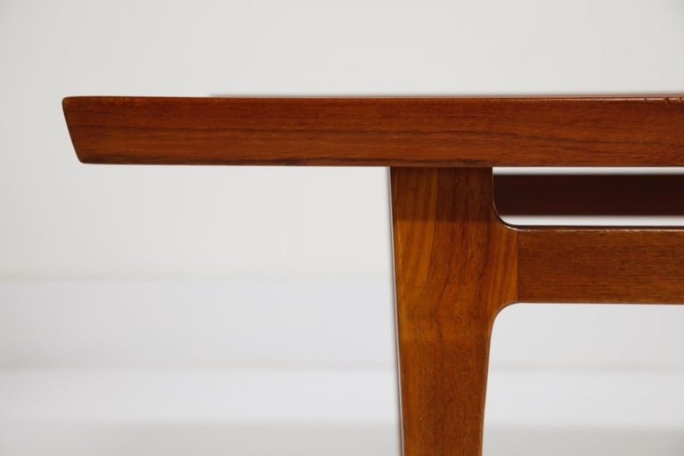 Early Finn Juhl for France and Daverkosen FD532 Teak Coffee Table, Denmark 1950s For Sale 6