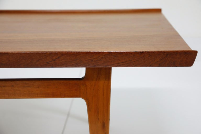 Early Finn Juhl for France and Daverkosen FD532 Teak Coffee Table, Denmark 1950s For Sale 12