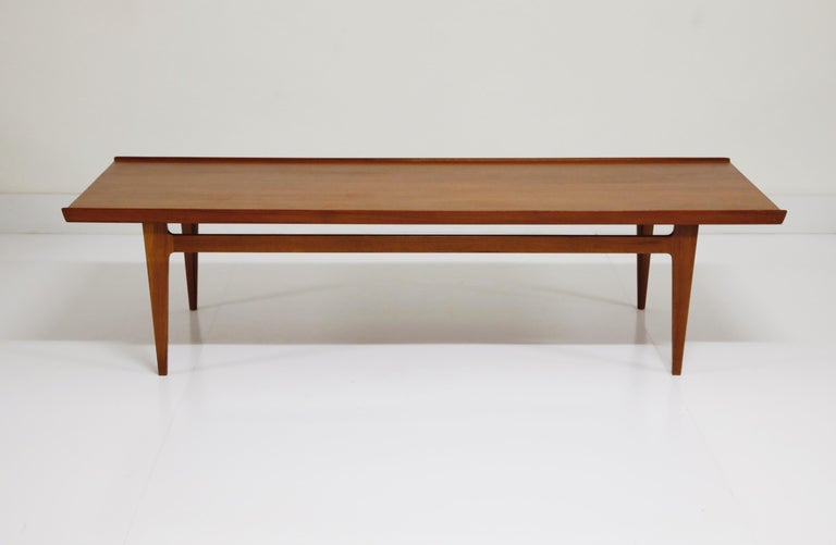 Danish Early Finn Juhl for France and Daverkosen FD532 Teak Coffee Table, Denmark 1950s For Sale