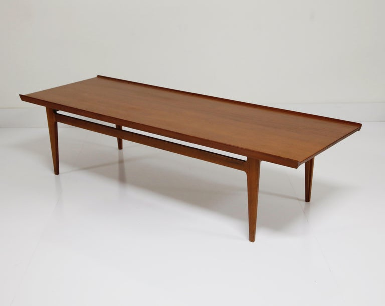 Early Finn Juhl for France and Daverkosen FD532 Teak Coffee Table, Denmark 1950s For Sale 2