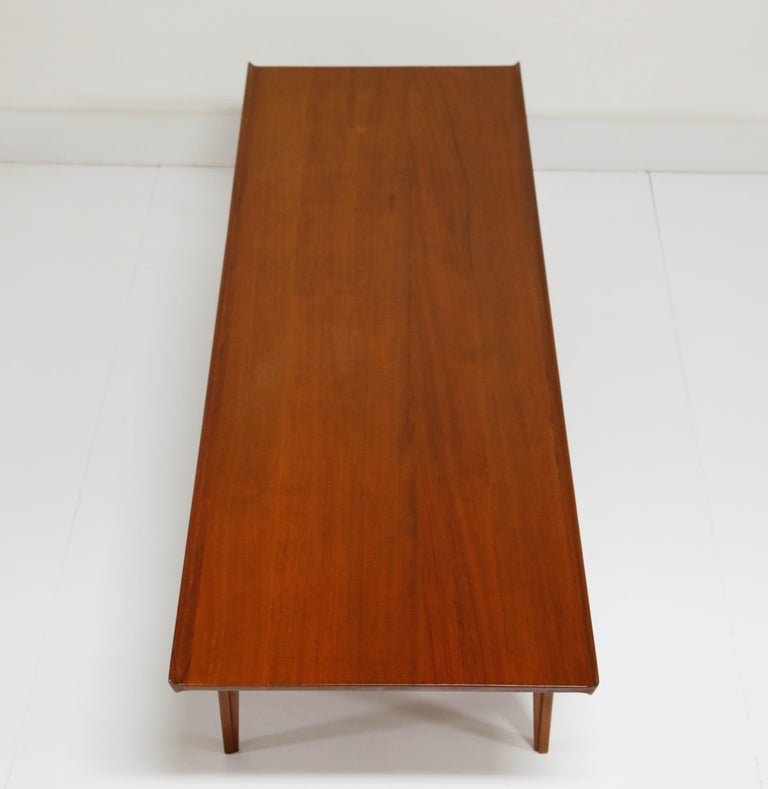 Early Finn Juhl for France and Daverkosen FD532 Teak Coffee Table, Denmark 1950s For Sale 3