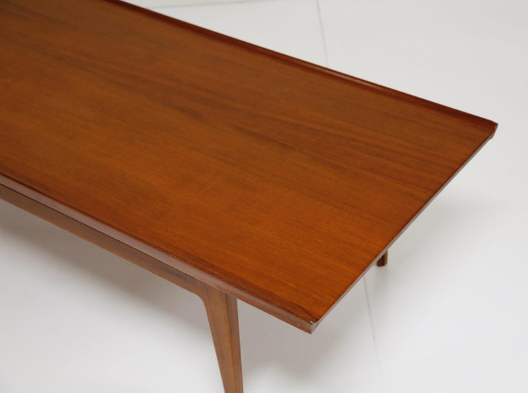 Early Finn Juhl for France and Daverkosen FD532 Teak Coffee Table, Denmark 1950s For Sale 5