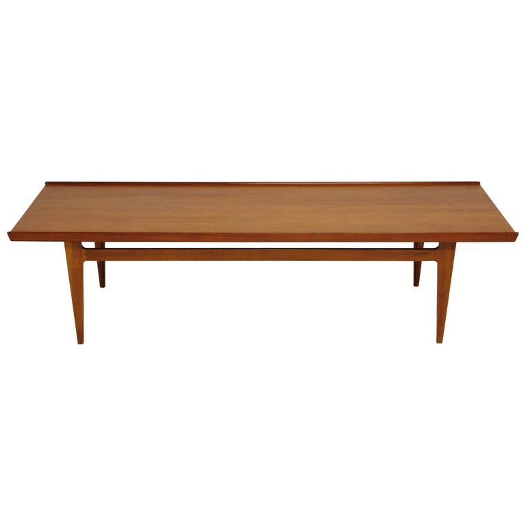 Early Finn Juhl for France and Daverkosen FD532 Teak Coffee Table, Denmark 1950s For Sale
