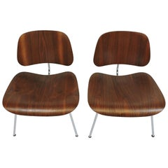 Early First Edition Eames Walnut LCM Chair for Evans