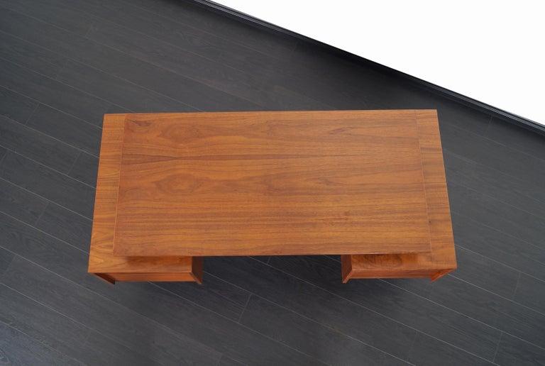 Early Floating Top Walnut Desk by Milo Baughman For Sale 3