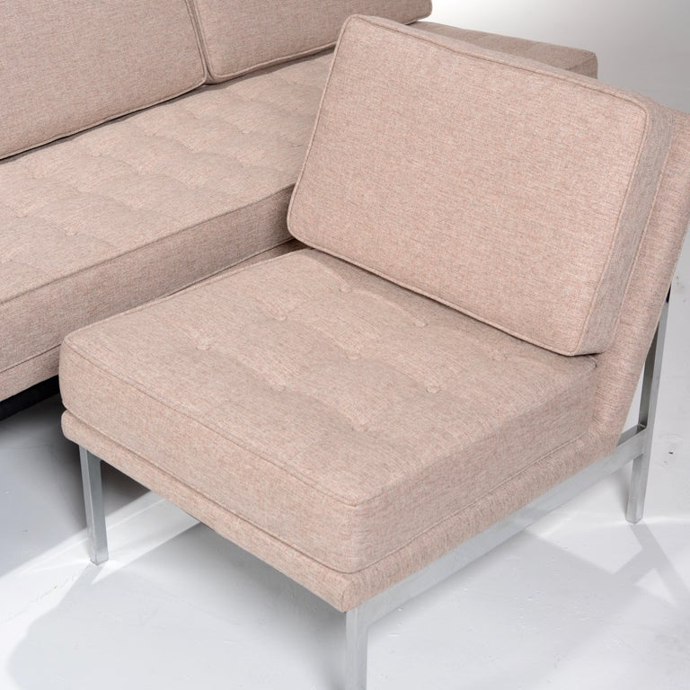 Early Florence Knoll Armless Sofa and Chair Set For Sale 8