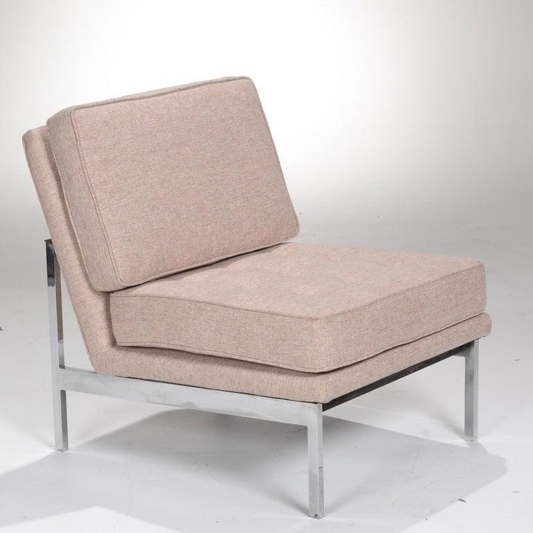 Early Florence Knoll Armless Sofa and Chair Set For Sale 10