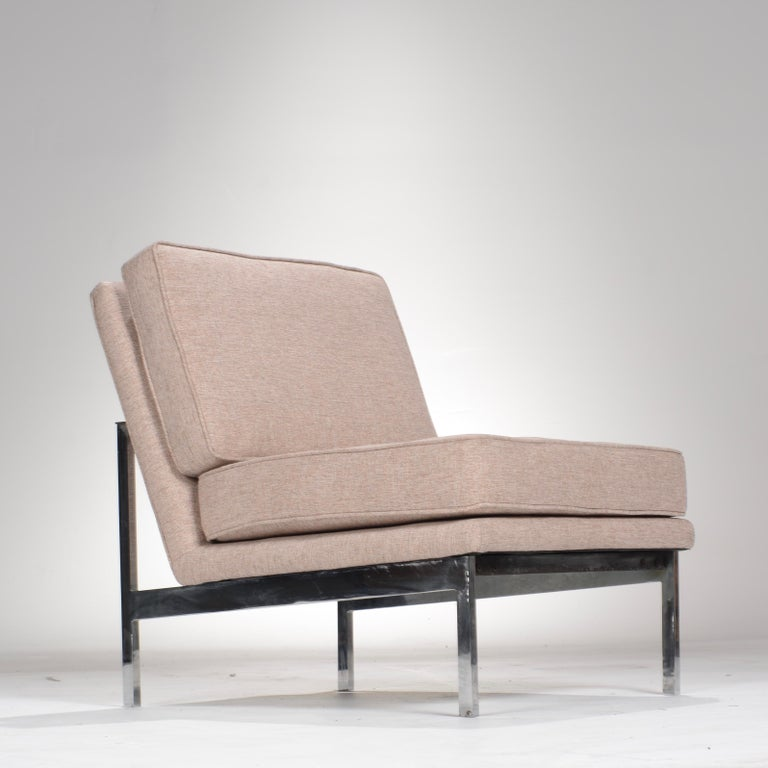 Early Florence Knoll Armless Sofa and Chair Set For Sale 11