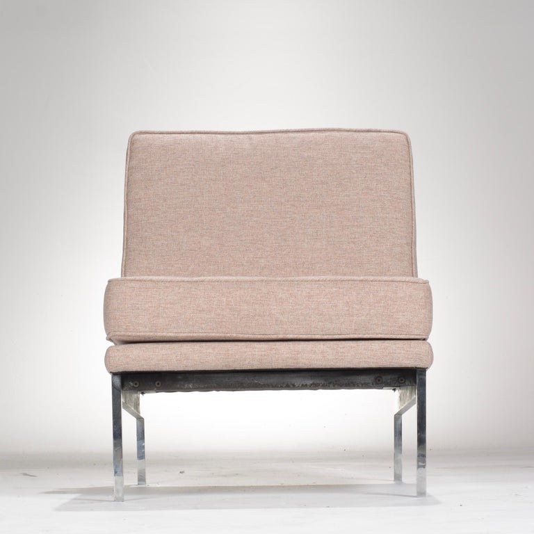 Early Florence Knoll Armless Sofa and Chair Set For Sale 12
