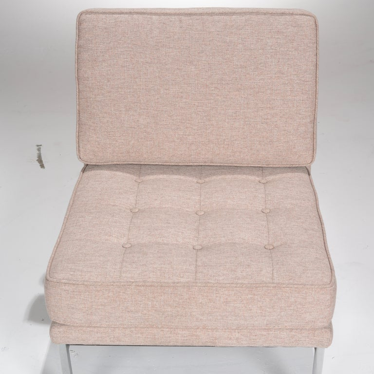 Early Florence Knoll Armless Sofa and Chair Set For Sale 13