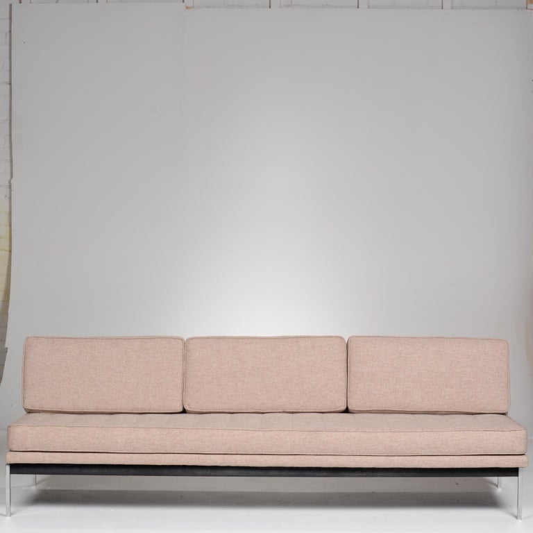Mid-Century Modern Early Florence Knoll Armless Sofa and Chair Set For Sale