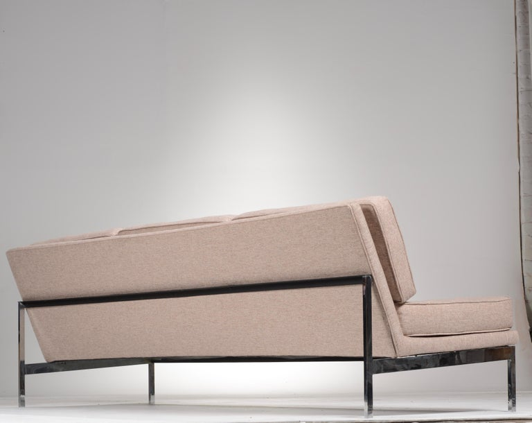 Early Florence Knoll Armless Sofa and Chair Set For Sale 2