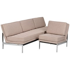 Early Florence Knoll Armless Sofa and Chair Set