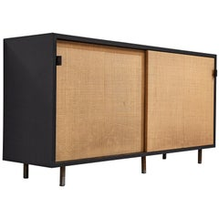 Early Florence Knoll Credenza with Cane Sliding Doors