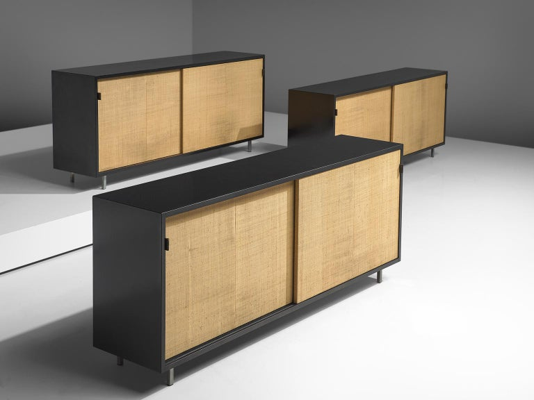Mid-Century Modern Early Florence Knoll Credenzas for Knoll Head Office For Sale