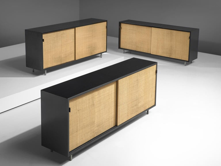 Italian Early Florence Knoll Credenzas for Knoll Head Office For Sale