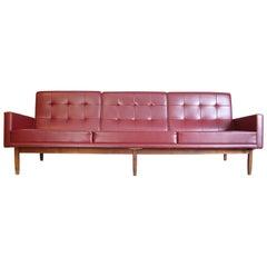 Early Florence Knoll Walnut Base Sofa from Marcel Breuer Snower Estate