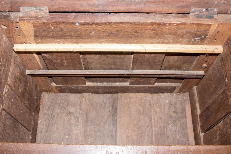 Early French Gothic Wood Trunk For Sale 7