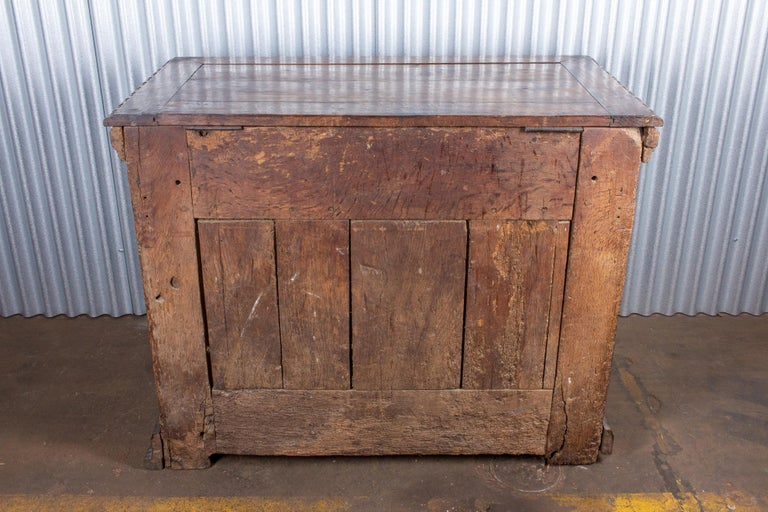 Early French Gothic Wood Trunk For Sale 12