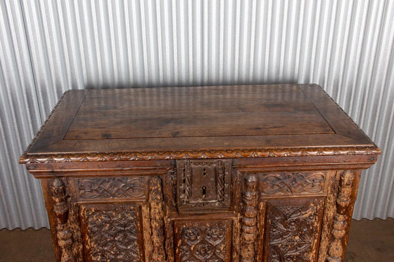 Early French Gothic Wood Trunk For Sale 1