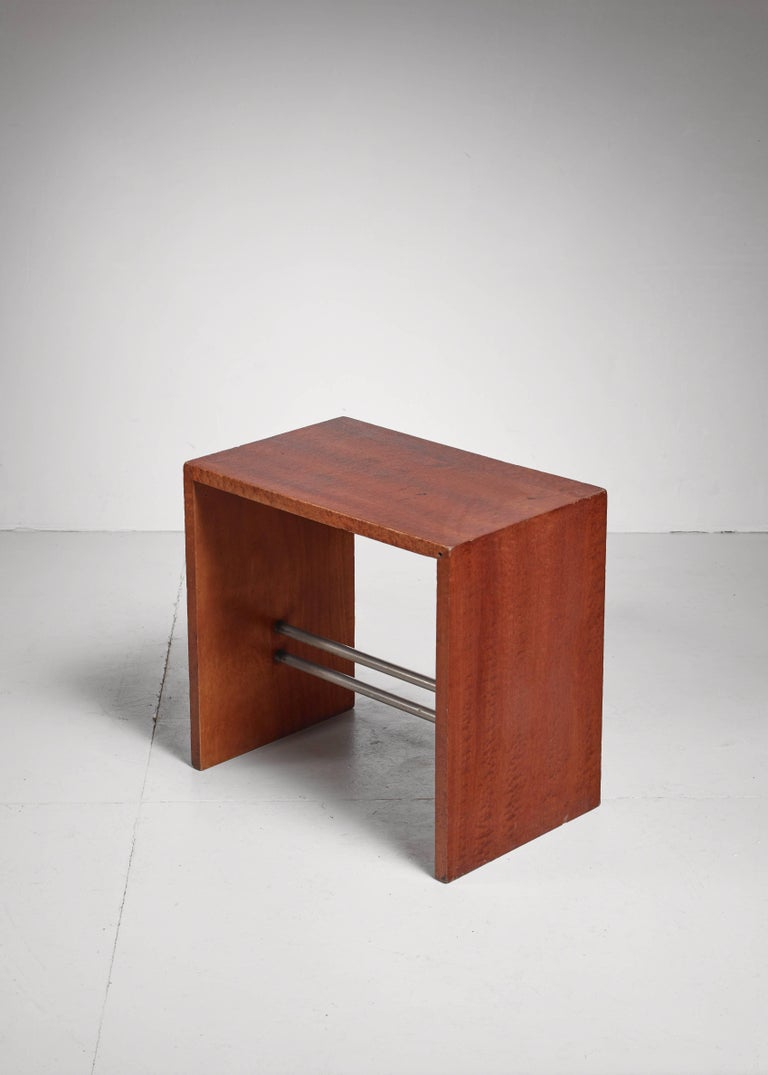 Modern Early French Minimalist Side or End Table, France, 1930s For Sale
