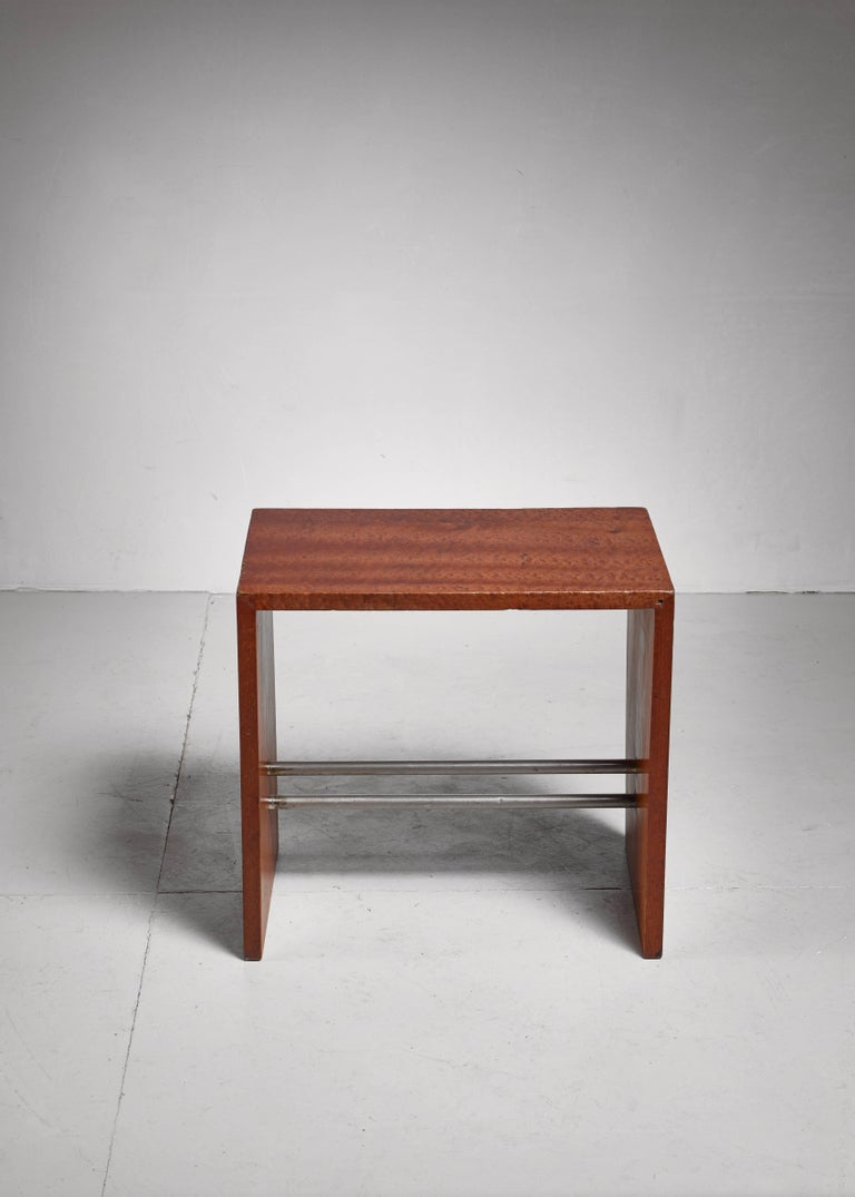 Mid-20th Century Early French Minimalist Side or End Table, France, 1930s For Sale