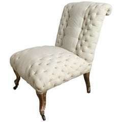 Early French Napoleon III Stripped Chair
