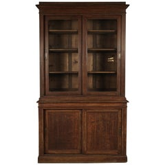 Early French Oak Cabinet with Sliding Doors, circa 1920