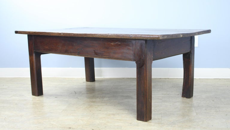 Early 19th Century Early French Oak Coffee Table For Sale