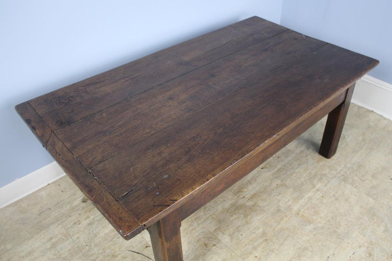 Early French Oak Coffee Table For Sale 1