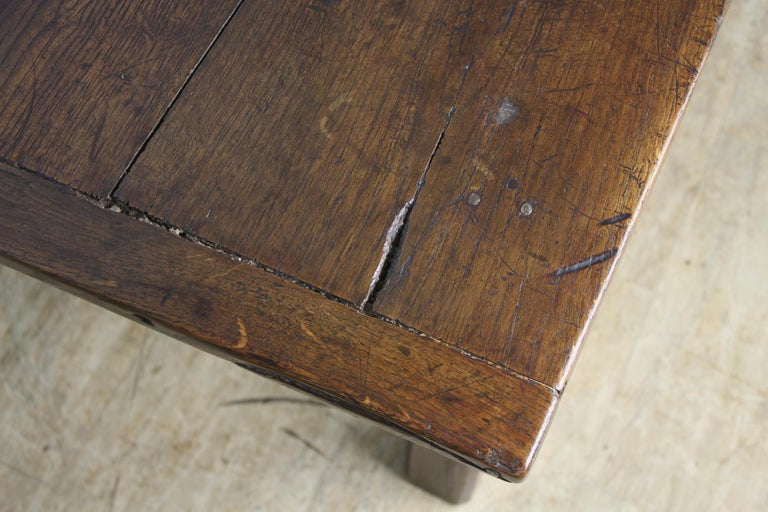 Early French Oak Coffee Table For Sale 3