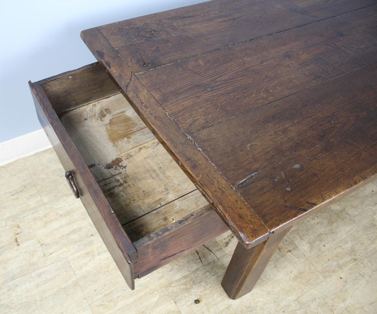 Early French Oak Coffee Table For Sale 4