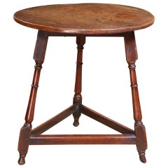Early Fruitwood Cricket Table