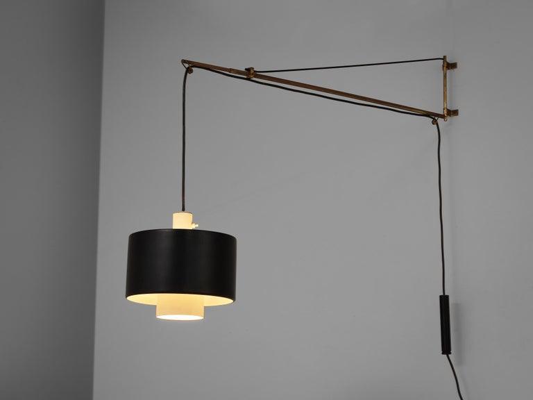 Mid-20th Century Early Gaetano Sciolari for Stilnovo Wall-Mounted Pendant Lamp Model '2061' For Sale