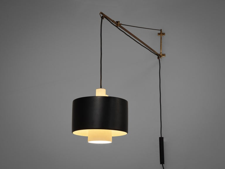 Early Gaetano Sciolari for Stilnovo Wall-Mounted Pendant Lamp Model '2061' For Sale 1