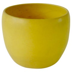Early Gainey Large Yellow California Modern Planter Pot